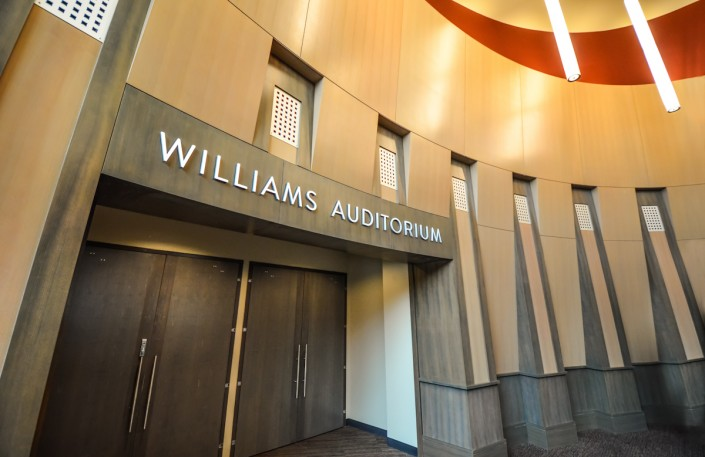 Williams Auditorium Entrance